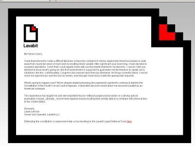 Lavabit, der inzwischen geschlossene Anbieter von verschlüsselten E-Mail-Diensten. Foto: Archiv