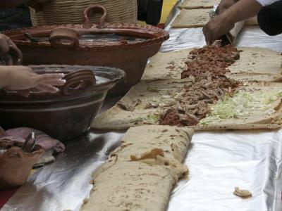 Riesen-Taco in Mexico City: Es gibt in Mexiko prozentual mehr Übergewichtige als in den USA. Foto:Mario Guzmán
