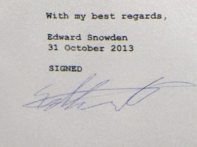 Snowden-Unterschrift