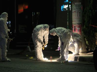 In Athen wurden am Freitagabend zwei Rechtsextremisten auf offener Straße erschossen. Foto: Simela Pantzartzi