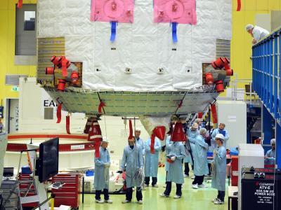 Verglüht:Das S/C-Modul des Raumtransporters ATV-4