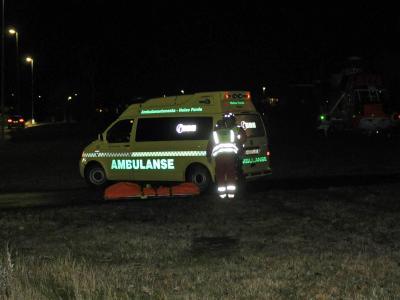 Ein Krankenwagen am Ort der Bluttat in Norwegen. Foto: Egil Jorgen Lund