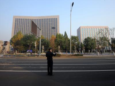 Die Polizei sprach von «kleinen Detonationen». Foto:Yu Tu