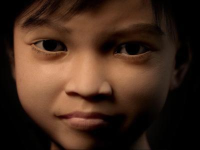Es ist zehn Jahre alt, süß, unschuldig und ein Weltstar: Das Phantom-Mädchen Sweetie lockte viele Pädophile an. Aber ob sie je vor einen Richter kommen, ist fraglich. Foto: Terres des Hommes/epa