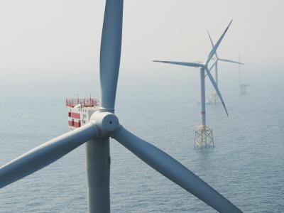 Offshore-Windpark Alpha Ventus in der Nordsee. Foto:Teresa Dapp/Archiv