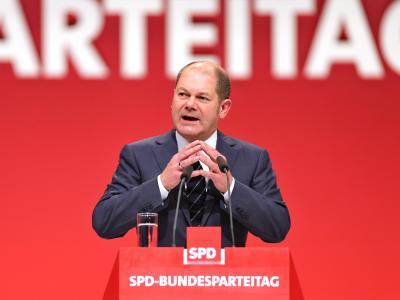 Dämpfer für Olaf Scholz: Der Erste Bürgermeister von Hamburg wurde mit nur 67,3 Prozent als stellvertretender SPD-Vorsitzender bestätigt. Foto: Jan Woitas