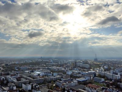 Herbstsonne über Leipzig. Foto: Jan Woitas