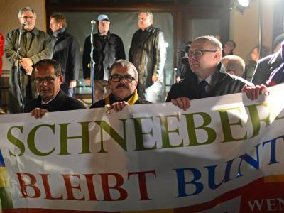 Demonstrationen in Schneeberg