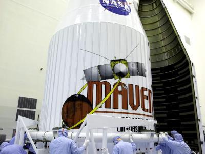 Nach zehn Monaten Flugzeit soll «Maven» in der Atmosphäre des Mars ankommen. Foto: Nasa/Kim Shiflett