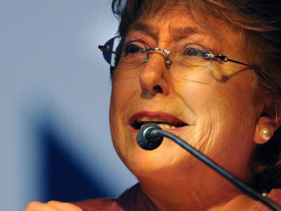 Präsidentschaftskandidatin Bachelet verfehlt die absolute Mehrheit. Foto: Ariel Marinkovic