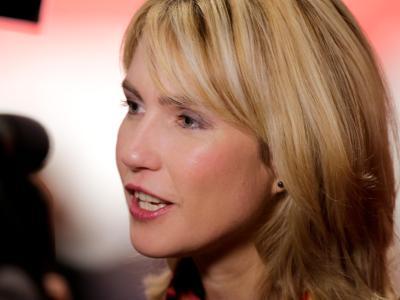 Manuela Schwesig am 14. November beim SPD-Bundesparteitag in Leipzig. Foto: Kay Nietfeld/dpa