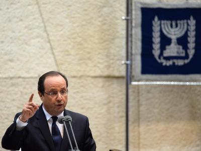 Präsident Hollande sprach in der Knesset. Foto: Kobi Gideon