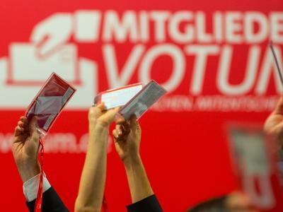 Delegierte beim SPD-Bundesparteitag am vergangenen Wochenende. Foto: Hannibal