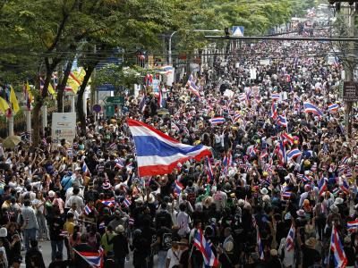 Massenproteste in Bangkok