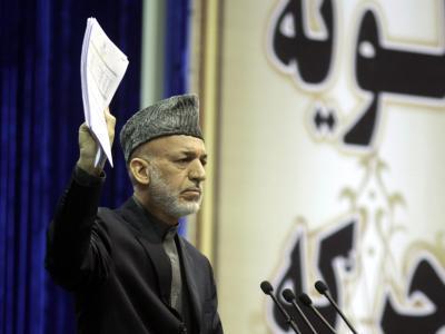 Will die Unterzeichnung des Sicherheitsabkommens über die weitere Präsenz von US-Soldaten in dem Land hinauszögern: Afghanistans Präsident Karsai. Foto: S. Sabawoon