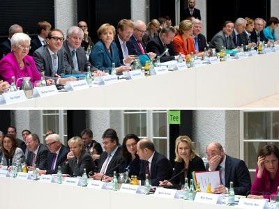 Bis zum Schluss ringen Union und SPD genauso erbittert wie zu Beginn ihrer Verhandlungen um die großen Streitthemen. Foto: Maurizio Gambarini/Archiv