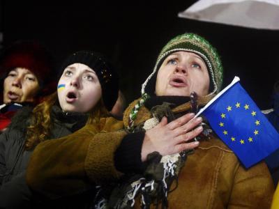 Die Pro-EU-Demonstration stand imWiderspruch zumRegierungskurs - und wurde gewaltsam beendet. Foto: Filip Singer