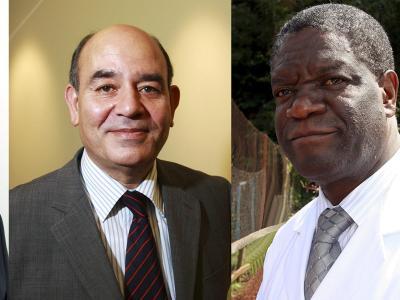 Der Menschenrechtler Radschi Surani und der Arzt Denis Mukwege sind Preisträger der Alternativen Nobelpreise. Foto: Right Livelihood Awards