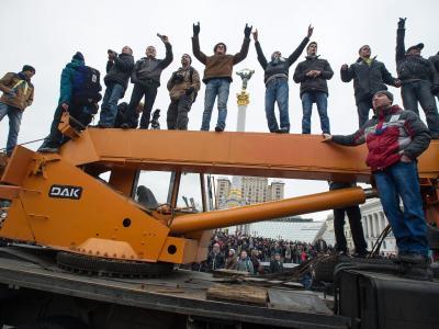 In Kiew weiten sich die Proteste gegen Amtsinhaber Janukowitsch aus. Foto: Alexey Furman
