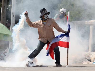 Die Demonstranten wollen die Regierung stürzen. Foto: Pongmanat Tasiri