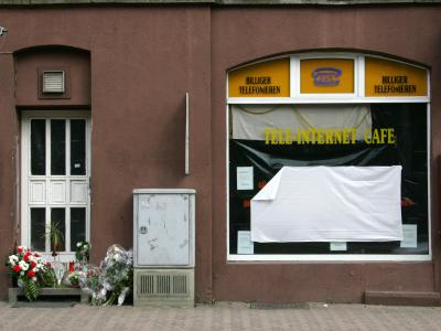 Das Internet-Café in Kassel, in dem der Betreiber Halit Yozgat im April 2006 ermordet wurde. Foto: Uwe Zucchi/Archiv