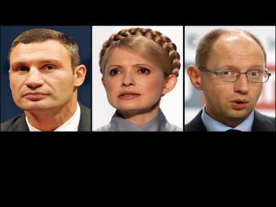Klitschko, Timoschenko und Jazenjuk