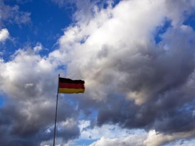 Fahne im Sturm
