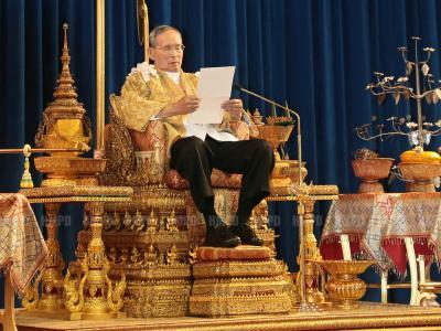 Die Regierungsgegner haben ihre Proteste aus Respekt vor Thailands König Bhumibol ausgesetzt. Foto: Royal Household Bureau