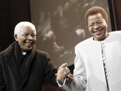 Mandela und Graca Machel