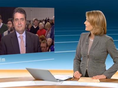 Das Interview von ZDF-Moderatorin Marietta Slomka mit SPD-Chef Sigmar Gabriel sorgt weiter für Streit. Foto: ZDF