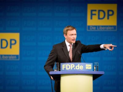 Der neue FDP-Bundesvorsitzende Christian Lindner beim Bundesparteitag der Liberalen. Foto: Kay Nietfeld