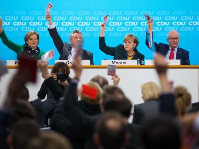 Abstimmung: Momentaufnahme vom Bundesausschuss der CDU in Berlin. Foto: Hannibal
