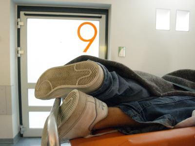 Mit Alkoholvergiftung im Krankenhaus