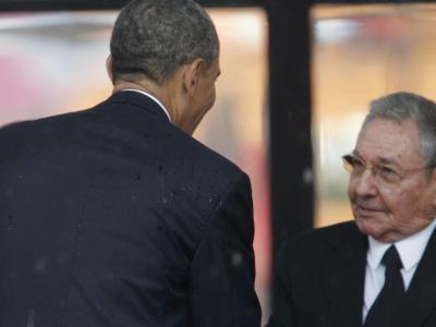 Obama und Raúl Castro