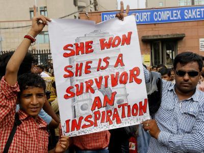 Aktivisten bekunden ihre Solidarität mit dem ermordeten Opfer (Archiv). Foto:Harish Tyagi