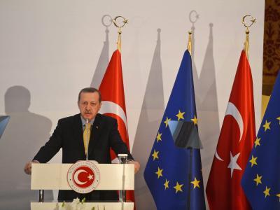 Der türkische Ministerpräsident Erdogan sprach von einem «Meilenstein». Foto: Volkan Furuncu