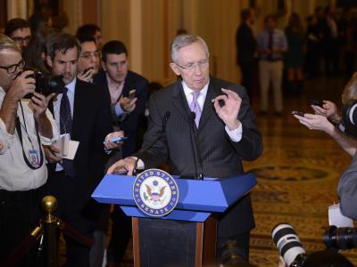 Harry Reid, Mehrheitsführer der Demokraten im Senat: «Die festgefahrene Situation muss beendet werden. Und sie endet.» Foto: Shawn Thew