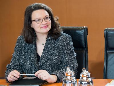 Arbeitsministerin Andrea Nahles: «Wir müssen Vollzeit neu definieren.» Foto: Maurizio Gambarini