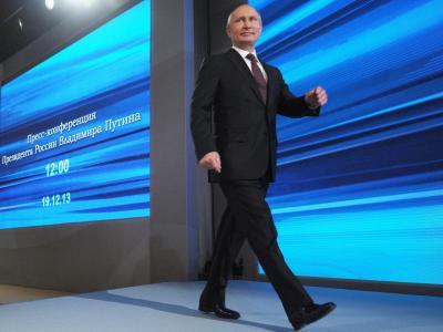 Nach den Massenprotesten gegen seine Politik 2011 und 2012 strotzt Putin nun wieder vor Stärke und Selbstbewusstsein. Foto: Alexey Nikolsky