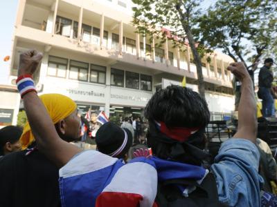 Regierungsgegner in Bangkok