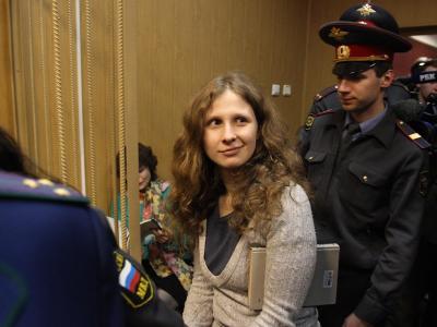 Pussy-Riot-Mitglied Maria Aljochina ist in Freiheit. Foto: Stringer