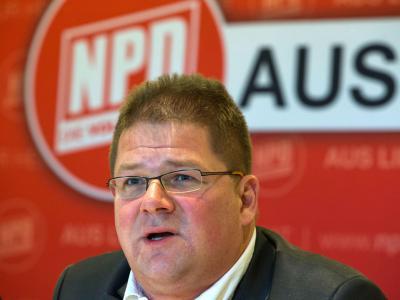 Der NPD-Bundesvorsitzende Holger Apfel ist zurückgetreten. Foto: Jens Büttner/Archiv