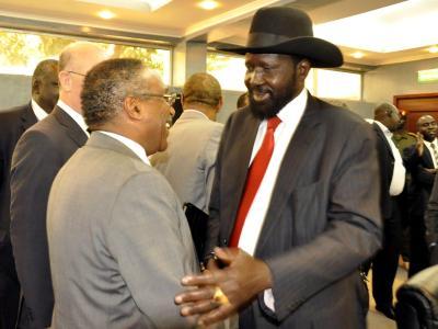 Hintergrund der Unruhen im Südsudan ist ein Machtkampf von Präsident Salva Kiir mit seinem im Juli entlassenen Stellvertreter Riek Machar. EPA/PHILLIP DHIL Foto: Phillip Dhil