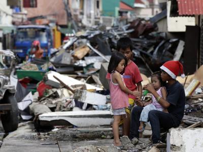 Taifungebiet auf den Philippinen