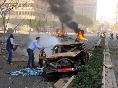 Die gewaltige Explosion war fast in der ganzen Stadt zu hören. Foto: Samir Talih