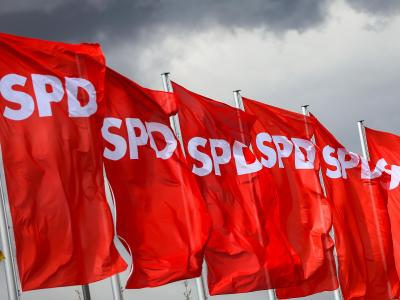 SPD-Fahnen