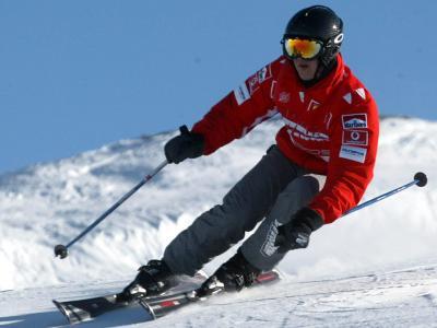 Michael Schumacher auf Skiern