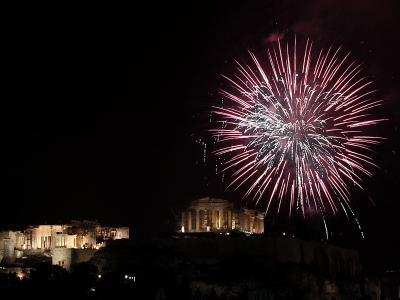 Silvester in Athen: Griechenland hat die EU-Ratspräsidentschaft übernommen. Foto:Alkis Konstantinidis