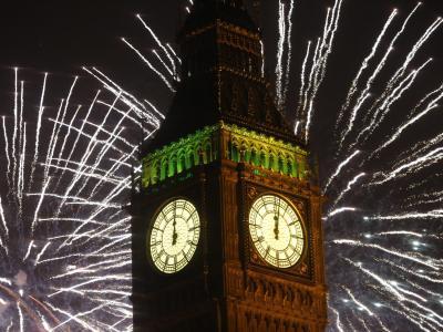 Das neue Jahr wurde auch in London gebührend gefeiert. Foto: Tal Cohen