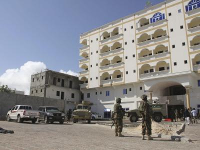 Auch das neue Jahr startet in Somalia mit blutiger Gewalt. Zielscheibe der Islamisten war ein beliebtes Hotel. Foto: Elyas Ahmed